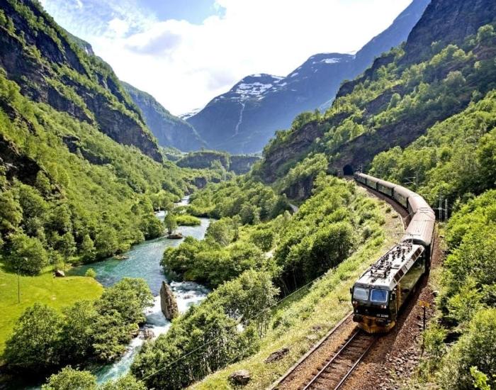 Oude spoorlijn Flåm, Noorwegen