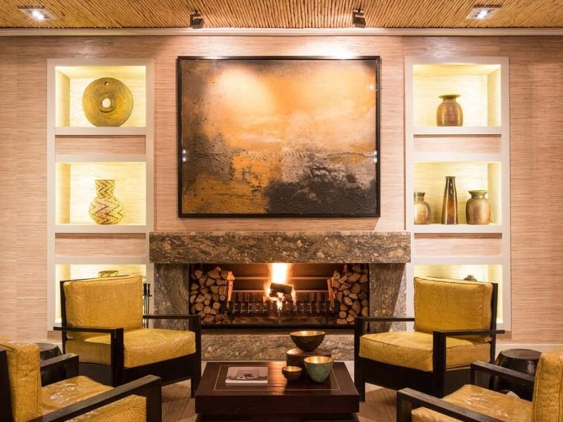 Hotellobby van een luxe hotel in Zuid-Afrika