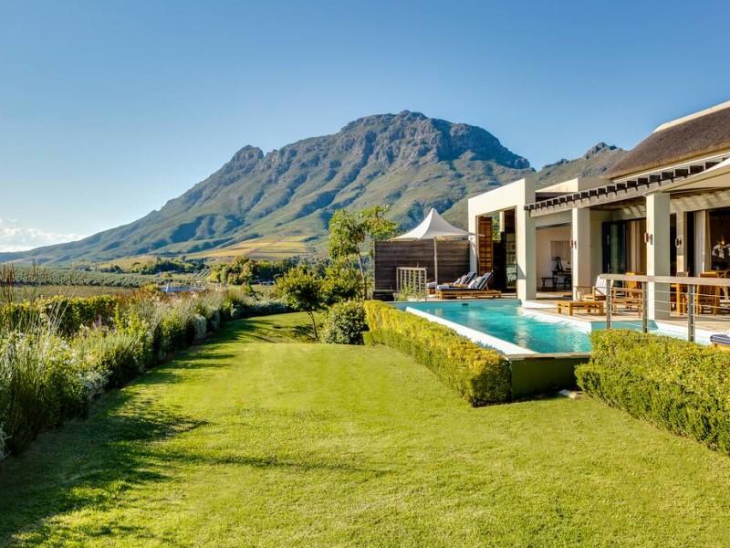 Lodge met privé zwembad bij luxe hotel in Zuid-Afrika