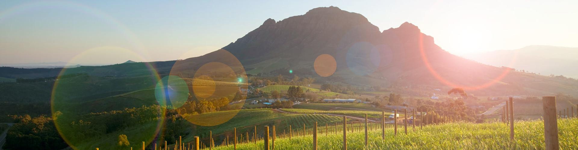 Zonsopgang tijdens een luxe rondreis door Zuid-Afrika