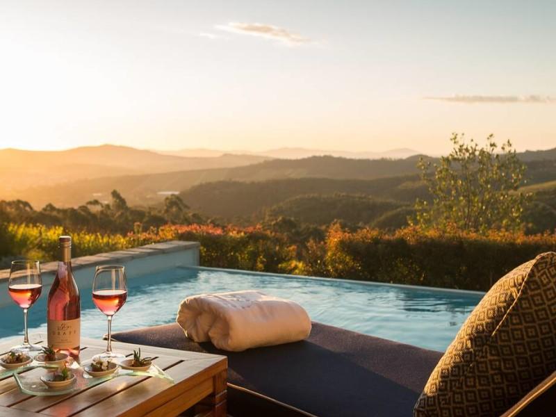 Privé zwembad bij luxe hotel in Zuid-Afrika
