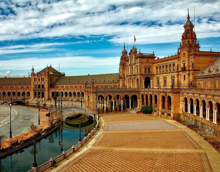 Plaza Espana in Sevilla, Spanje