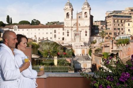© Portrait Rome - uitzicht vanaf balkon