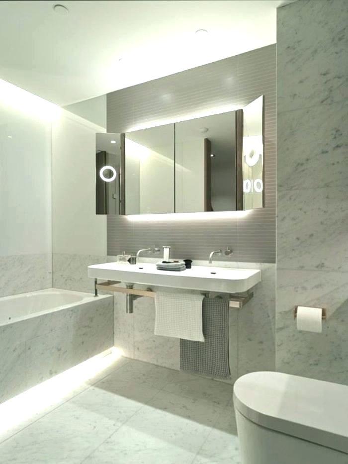 LED strip in de badkamer