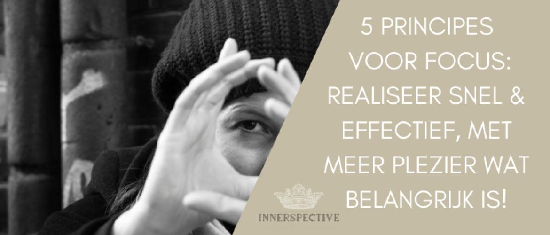 Focus op deze 5 principes en word 55% effectiever!