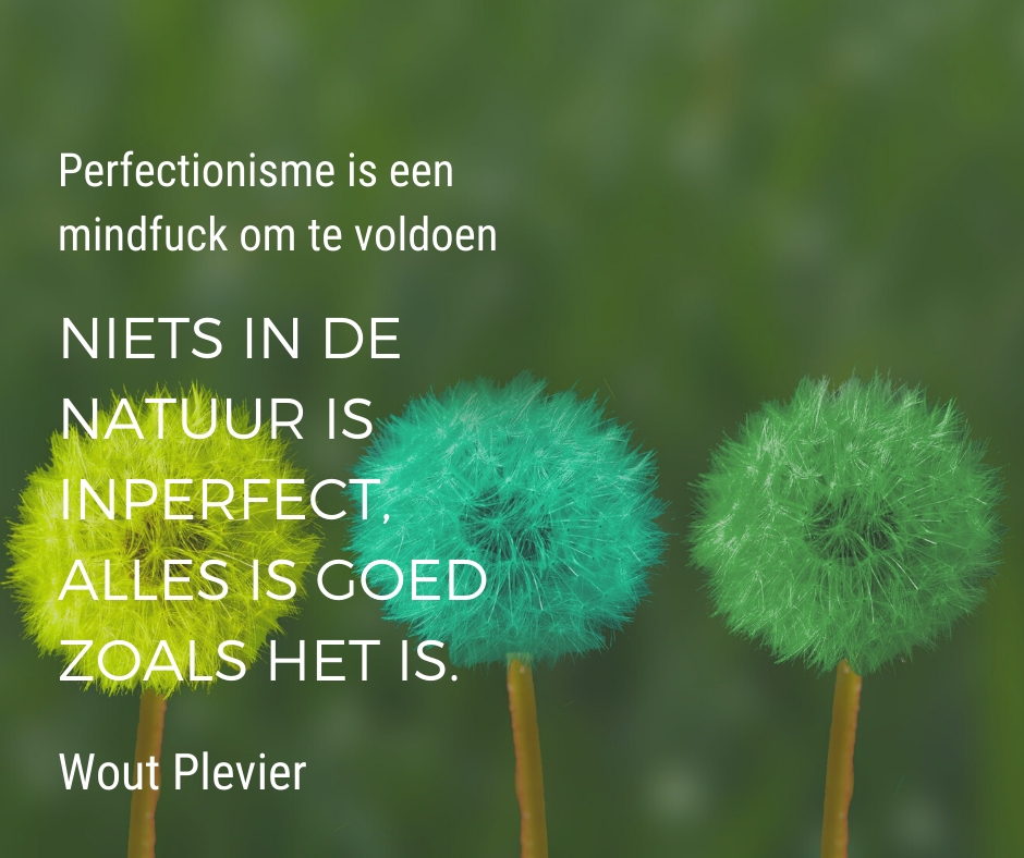 Simpel leven door loslaten Perfectionisme
