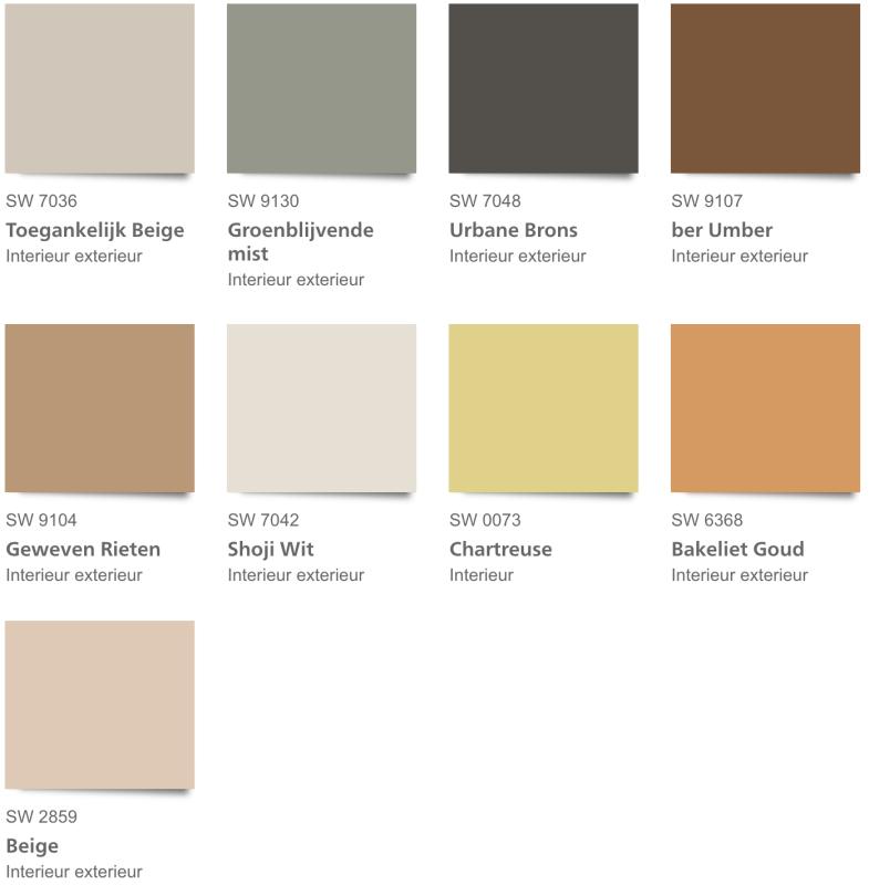 Sherwin Williams Method kleurenpalet