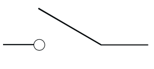 Symbool voor lastschakelaar