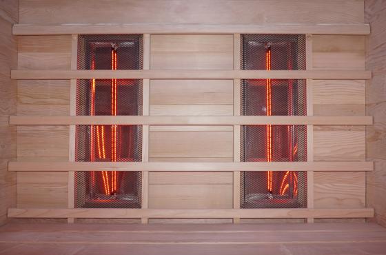 infraroodsauna hoekversie wand