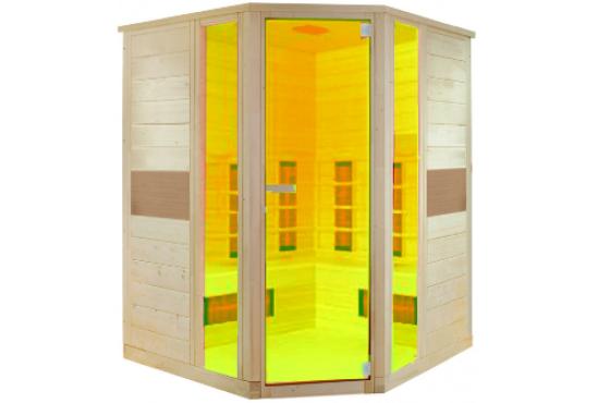 Hoeksauna infrarood geel
