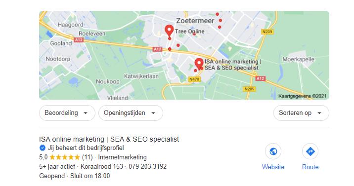Door bedrijvengidsen kom je hoog in google maps