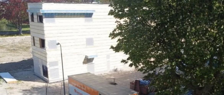Isolatie van een containerwoning