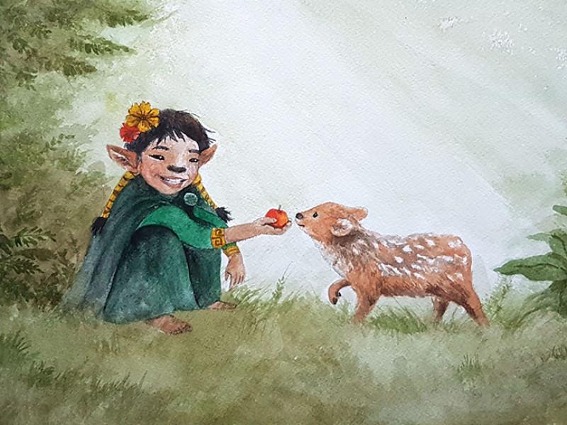 Ngen-kulliñ painting