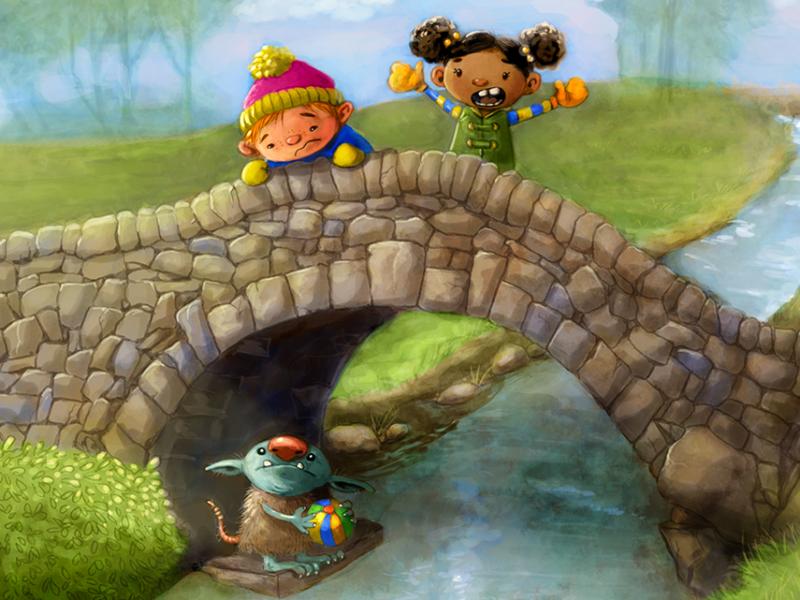Troll Bridge Kidlit Illustration