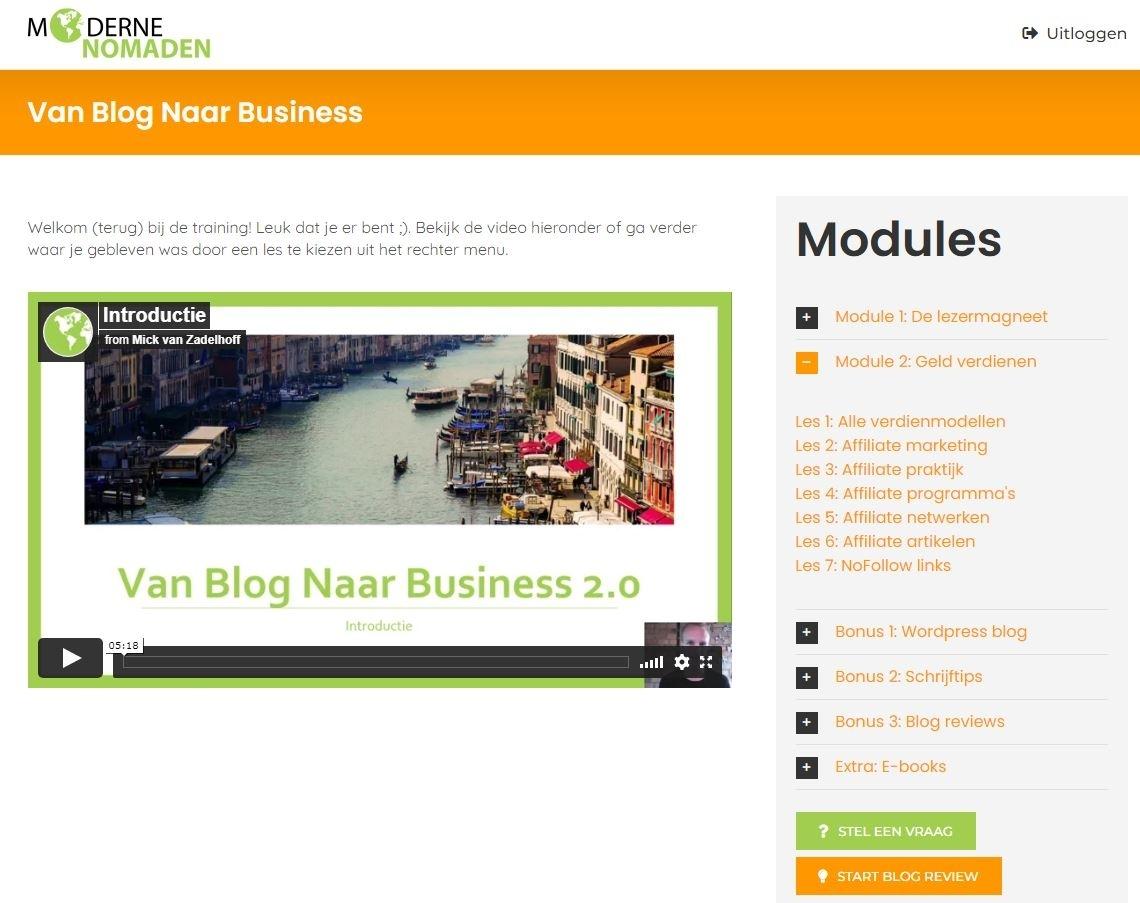 blog-naar-business-2-0-masterclass-module-2-review-2021-500-korting-mick-van-zadelhoff