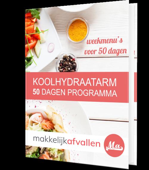 Boek Makkelijk afvallen Koolhydraatarm 50 dagen programma Review (2021) + 81% Korting