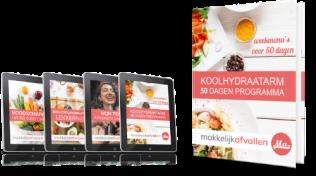bonussen Boek Makkelijk afvallen Koolhydraatarm 50 dagen programma Review (2021) + 81% Korting