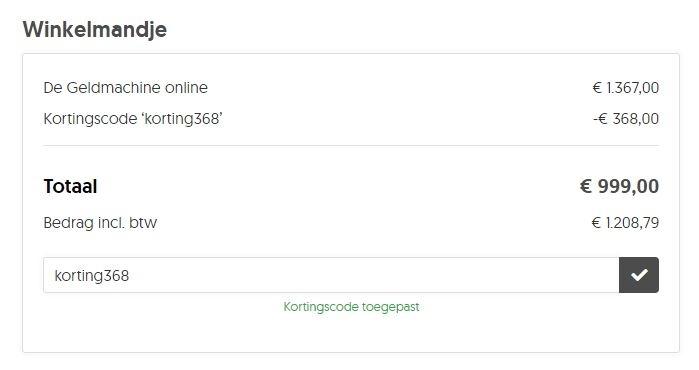De Geldmachine Korting met kortingscode KORTING368 Ultimate Mastermind Rene Cooiman
