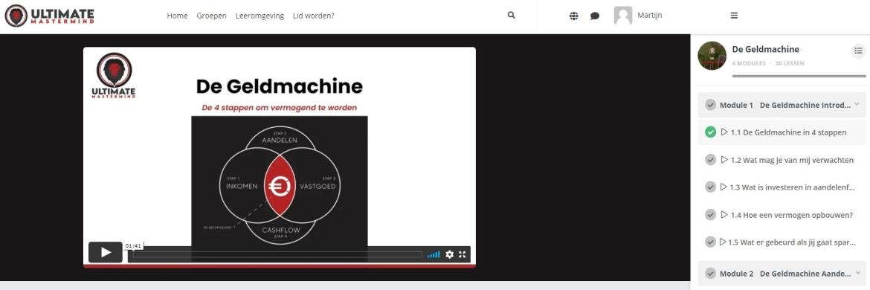 De Geldmachine Review + Korting | Ervaring Ultimate Mastermind