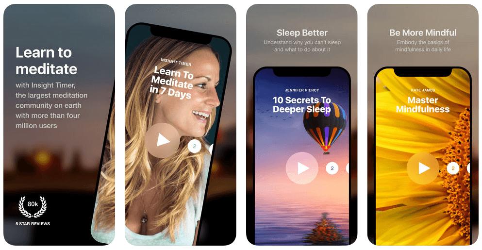 Insight Timer Meditatie App Review: leer van de beste