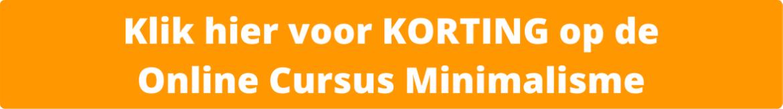 Korting Online Cursus Minimalisme