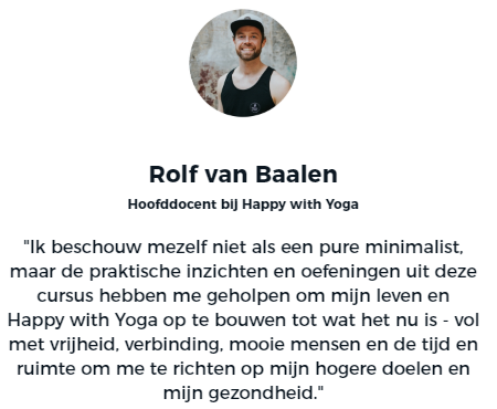Rolf van Baalen Happy with Yoga Academy