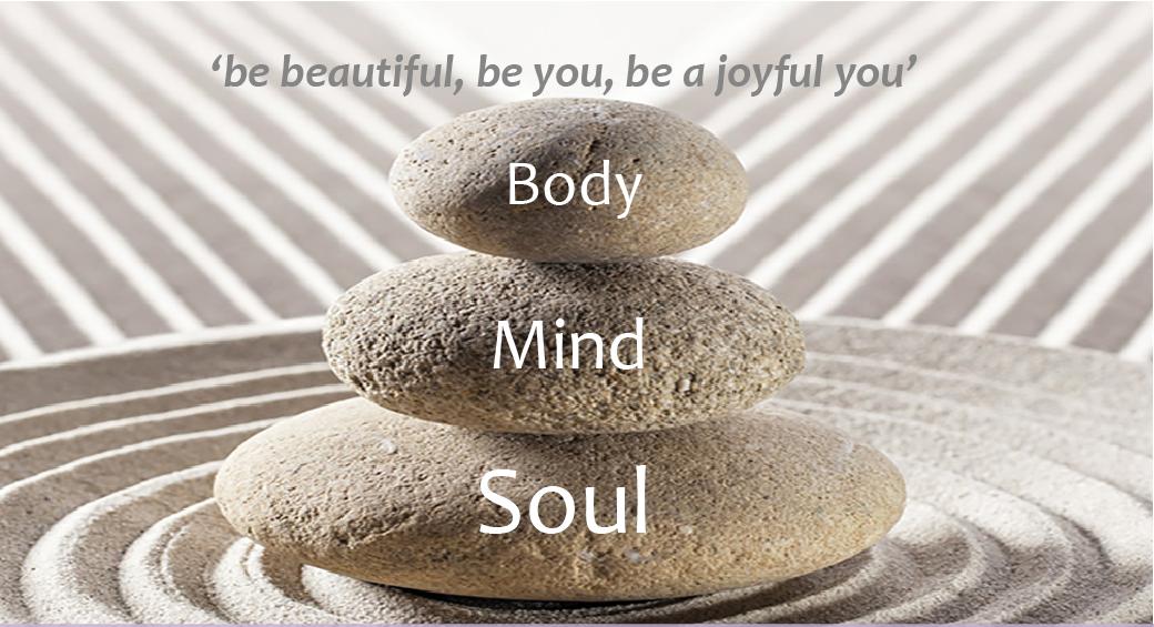 body mind soul concept joyful you
