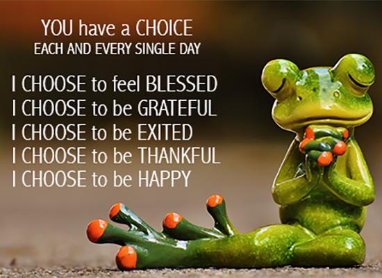 je hebt altijd een keuze