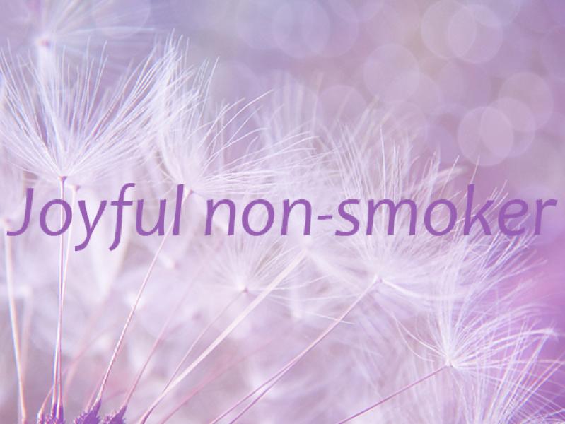joyful non-smoker