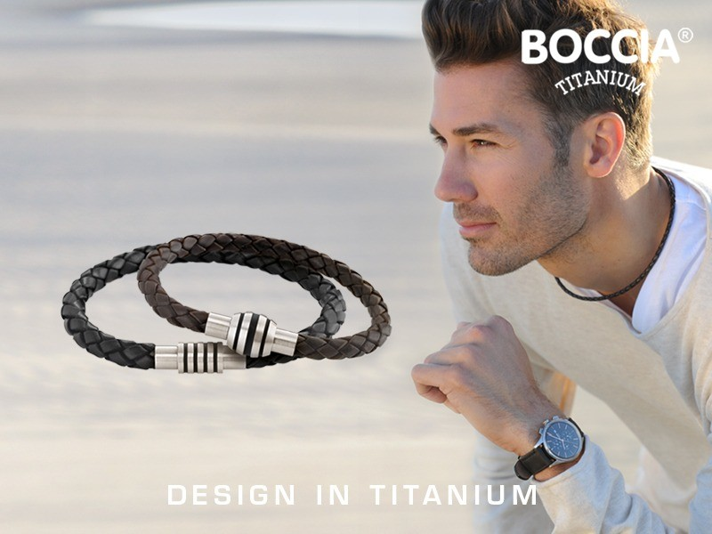 Boccia sieraden van titanium voor de man bij Juwelier Leguit