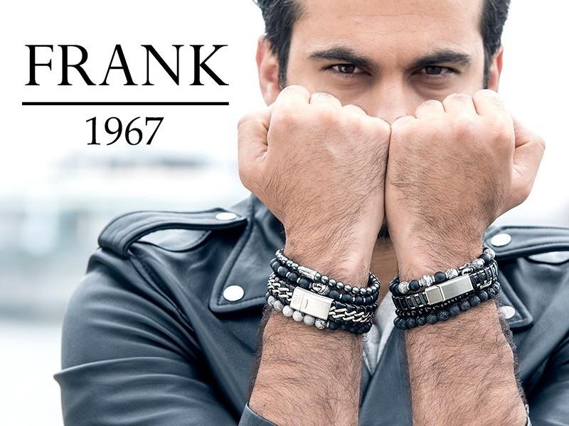 Frank 1967, lederen armbanden van staal met een mooie magneetsluiting