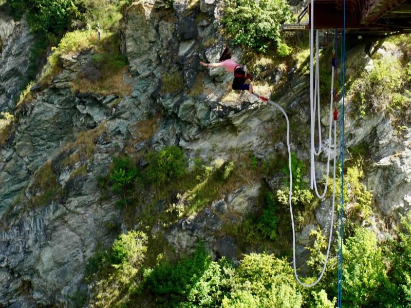 Tofste Bungeejump plek in Nieuw Zeeland