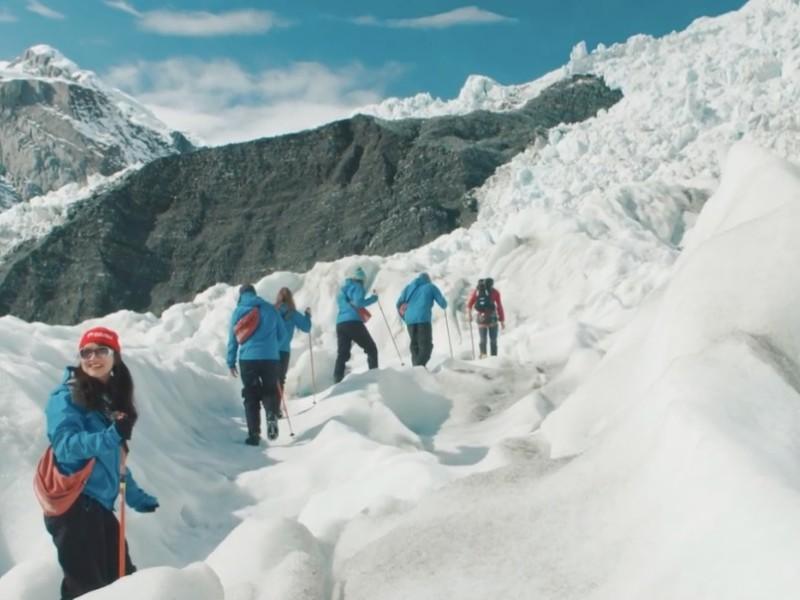 Gletsjer wandeling tijdens de Franz Josef Heli Hike