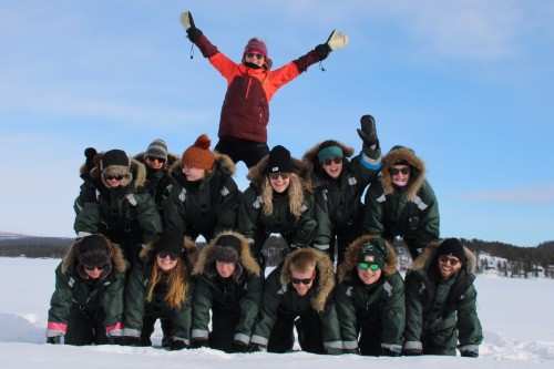 Menselijke Piramide Lapland Express