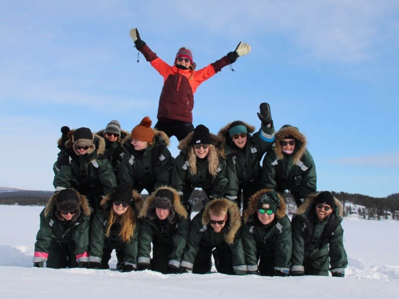 Groepsfoto Kaaiman Reizen in Lapland