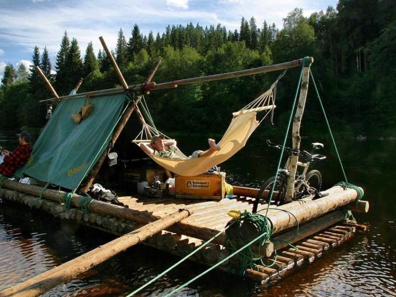Vlotvaren in Zweden Wildernis