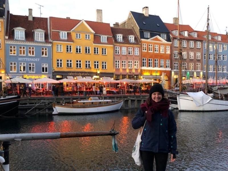 Gekleurde huizen in Kopenhagen