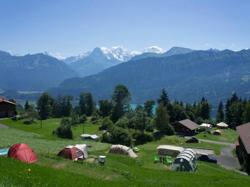 Kamperen in Zwitserland Uitzicht Kaaiman