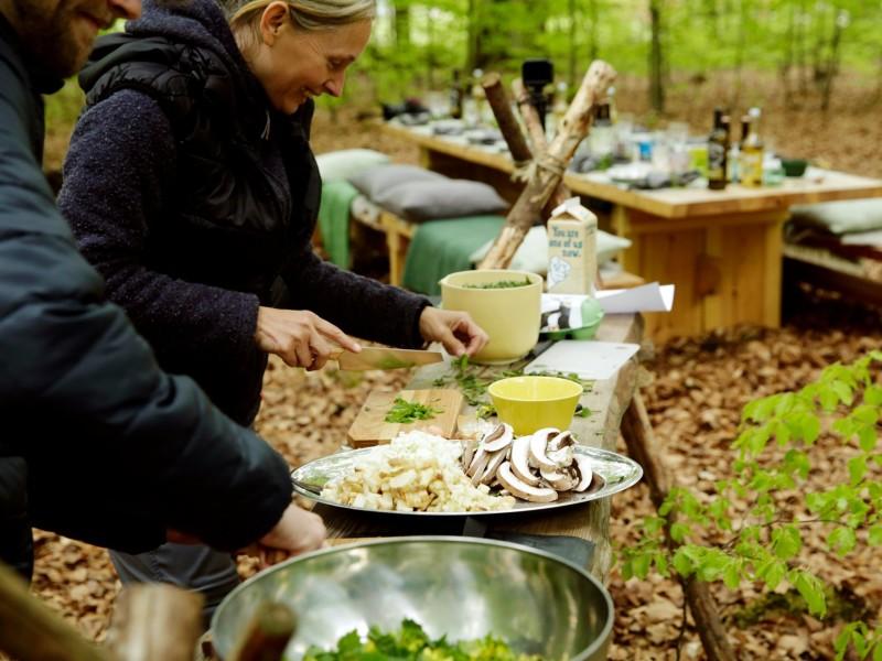 Kookcursus in de natuur met natuurlijk ingrediënten