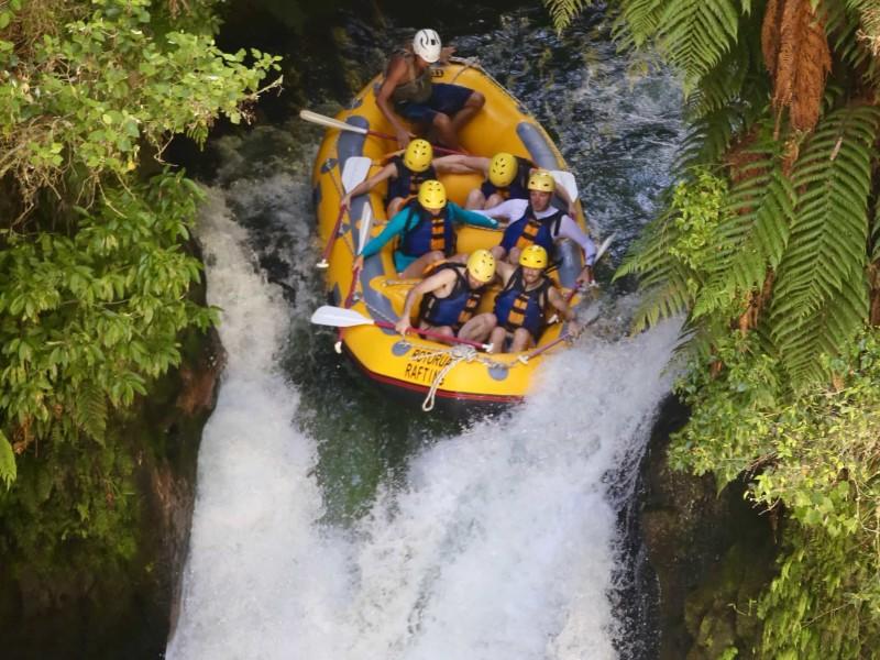 rafttocht op de Kaituna rivier