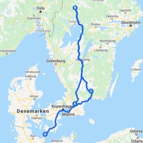 Reisroute Zweden Wildernis Kaaiman