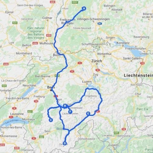 Reisroute Zwitserland Adrenaline