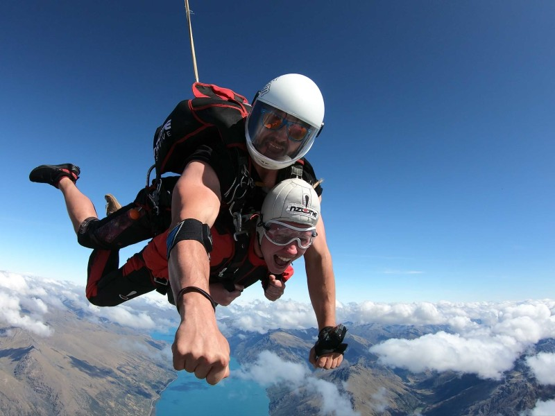 Skydiven boven Queenstown met instructeur