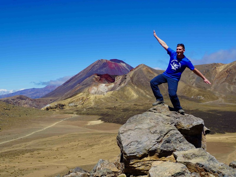 Lars en de Red Crater van Tongariro