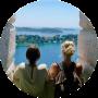 Uitzicht Kroatië vanuit een kerkje