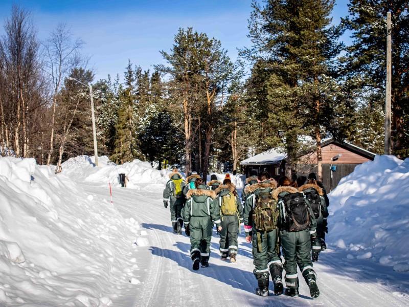Wandeling met de Kaaiman Reizen groep in Kiruna