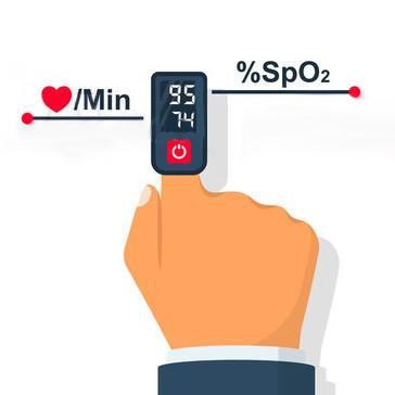 Saturatiemeter meet zuurstofgehalte in je bloed