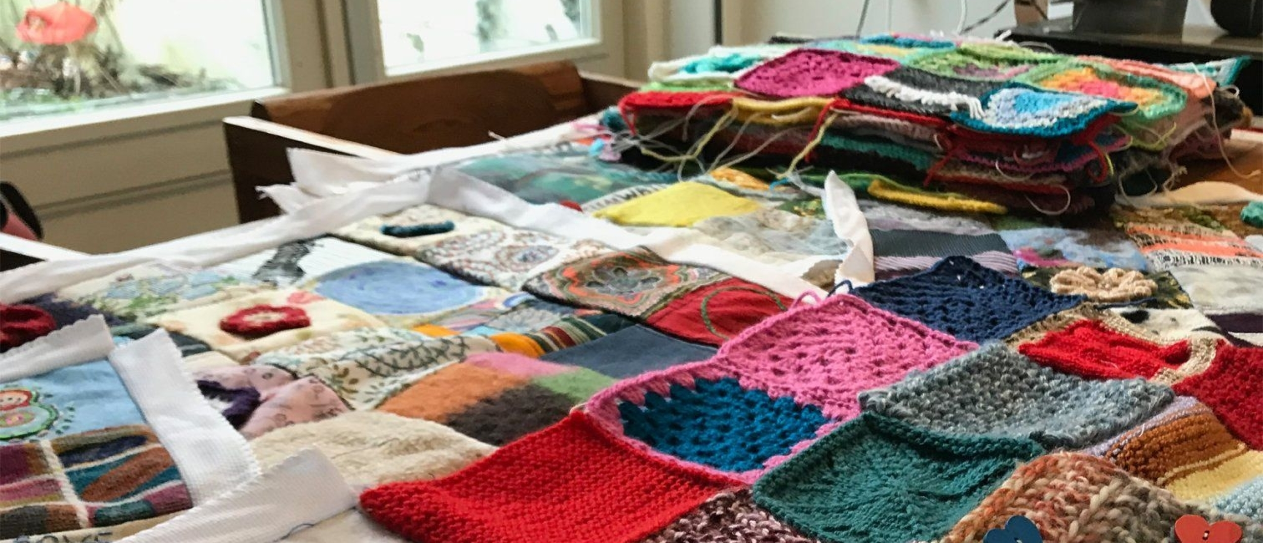 Give comfort to the planet by gathering hundreds of little blankets: quilt, knits and crochet all welcome