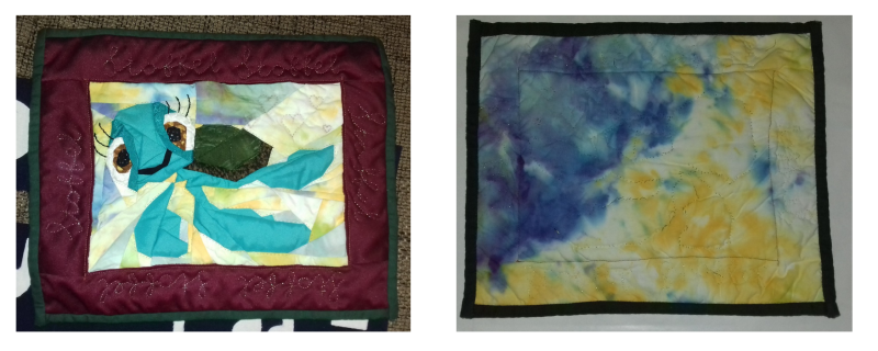 Front and back of a turtle quilt