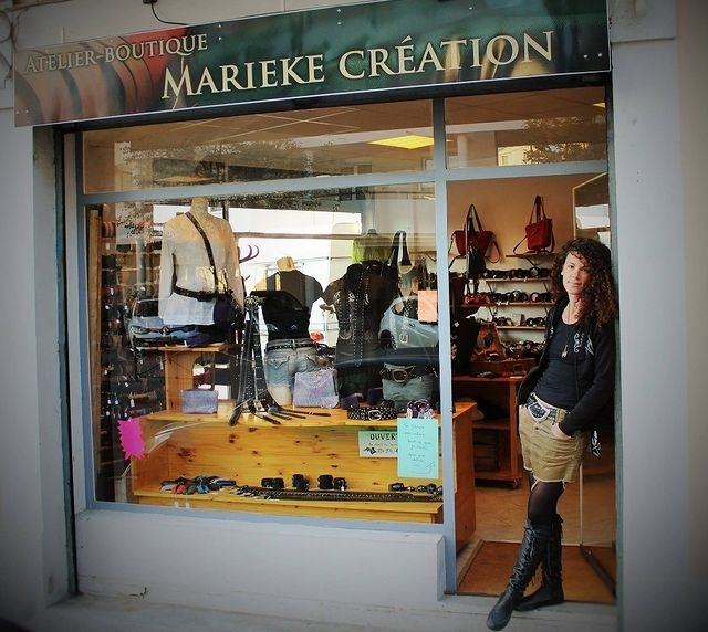 Marieke Creation maker of leather goods, locally sources and user of scraps